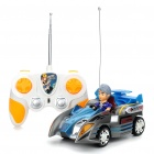 Cool 2-Channel R/C Racing Car with Remote Controller - Blue + Gray
