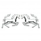 Horse Style Car Decoration Stickers - Silver (Pair)