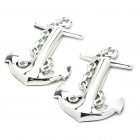Ship Anchor Style Car Decoration Stickers - Silver (Pair)