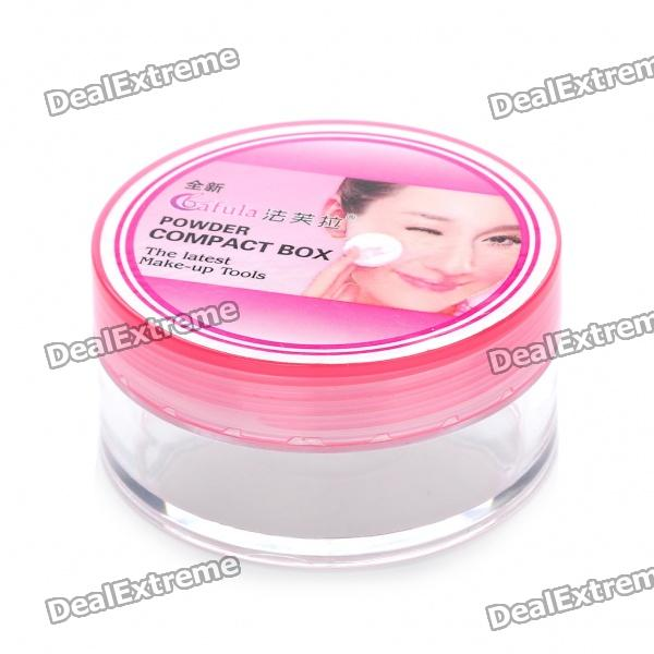 Compact Powder Box Case with Powder Puff - Color Assorted