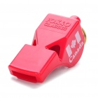 Professional ABS Plastic Whistle with Lanyard - Red