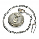 Vintage Water Resistant Quartz Pocket Watch with Chains - Antique Brass (1 x 377)