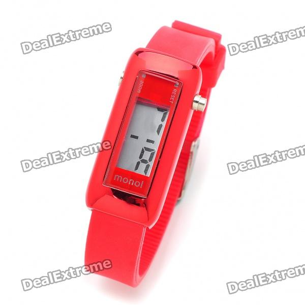 Fashion Silicone Water Resistant Digital Wrist Watch - Red (1 x 377)