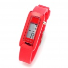 Fashion Silikon wasserdicht digitale Armbanduhr - Rot (1 x 377)