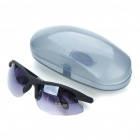 Fashion Resin Lens Windproof Glasses with Protective Case - Black