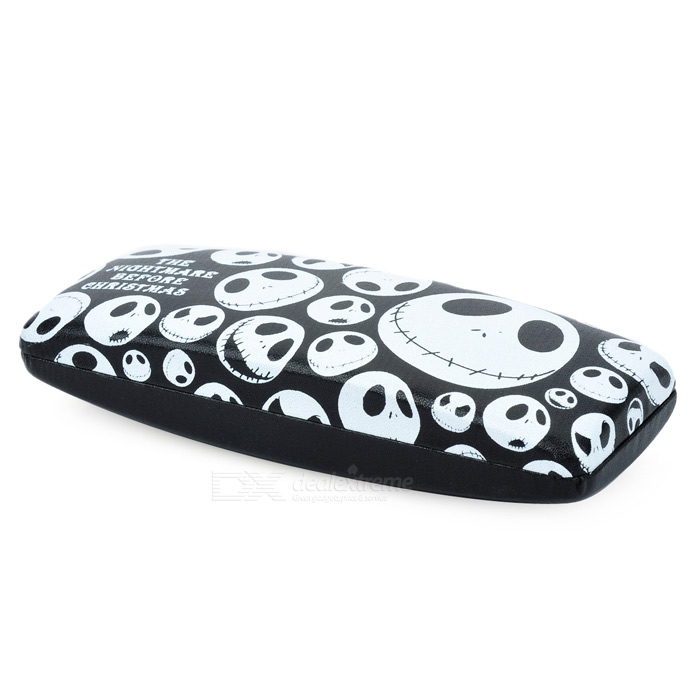 Cool Skull Pattern Protective Case for Glasses - Black + White (Style Assorted)