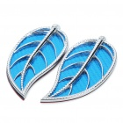 Fashion Leaf Style Auto Car Door Guard Protectors Decorative Sticker - Blue (Pair)