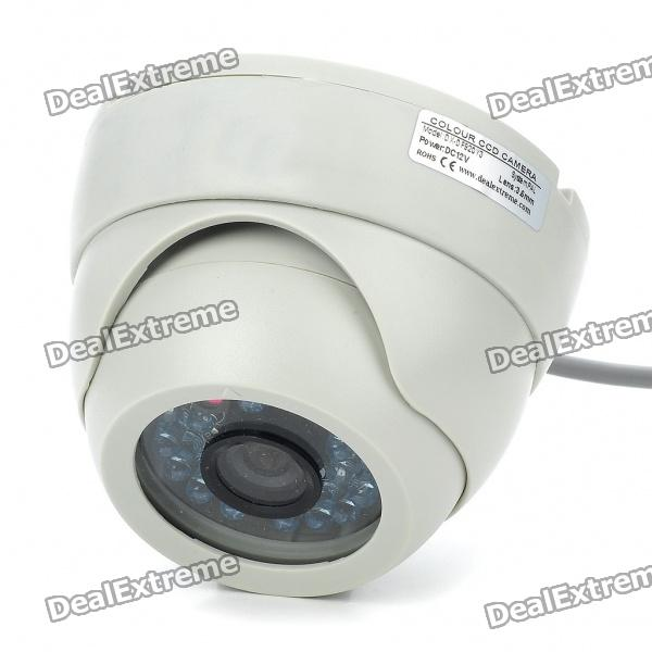 DX 1/3 CCD Surveillance Security Camera with 20-LED IR Night Vision (DC 12V) 1 3 mp cmos cctv ahd camera ahd m 960p 2500tvl security surveillance mini dome camera with ir cut filter night vision 1080p lens