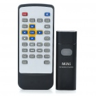 3-in-1 Mini 720P HD Media Player + USB Disk + TF Card Reader with Remote Controller - Black (4GB)