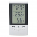 "Multi-Function 3.0"" LCD Thermometer/Humidity Meter - White (1 x AAA)"