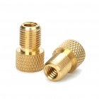 Presta to Schrader Valve Adapter Converters - Golden (Pair)