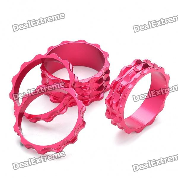 Aluminum Alloy CNC Washers for Bike Front Forks - Deep Pink (4-Piece Pack)