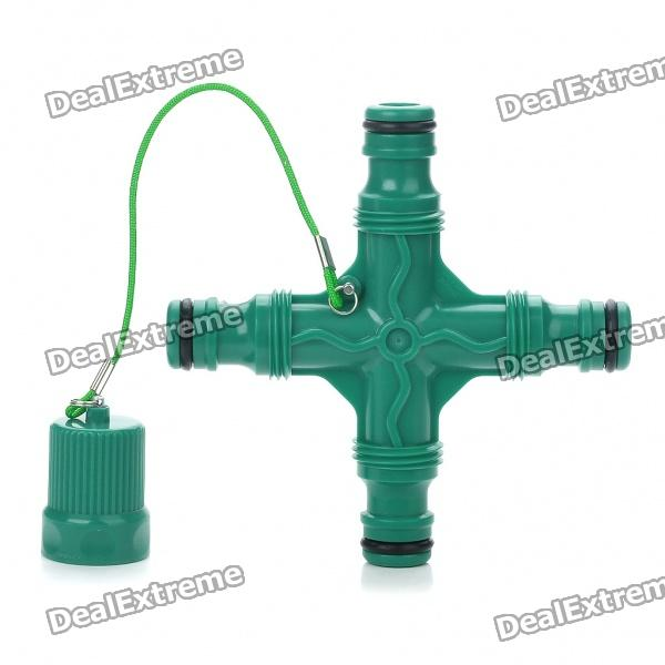 Plastic Cross Sprinkler Pipe Fitting - Green