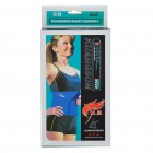 Knitted Adjustable Elastic Waist Belt Wrap Brace - Blue