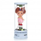 Doll-in-Glass Tube Portable Rechargeable MP3 Music Speaker with SD/USB/AUX