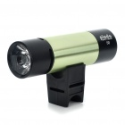Sporty USB Rechargeable 2-Mode White Flashlight MP3 Player Speaker w/ TF Slot - Green