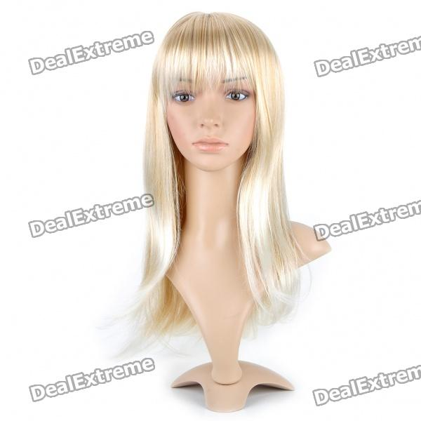 Fashion Long Natural Straight Hair Wig - Blonde