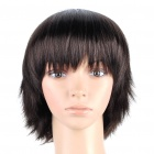 Fashion Short Natural Straight Hair Wig - Brown