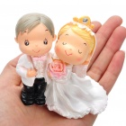 Western Style Resin Wedding Couple Display Dolls