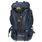 Stylish Outdoor Travel Backpack Double-Shoulder Bag w/ Water Bag Pocket - Blue