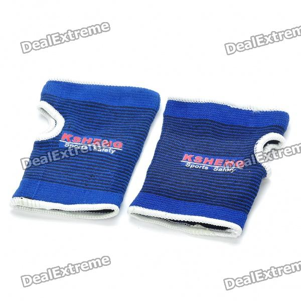 Protective Sports Elastic Palm Support Wrap - Blue (Pair)