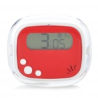 "Mini 1.4"" LCD Digital Alarm Clock w/ Thermometer (2 x AAA / Color Assorted)"