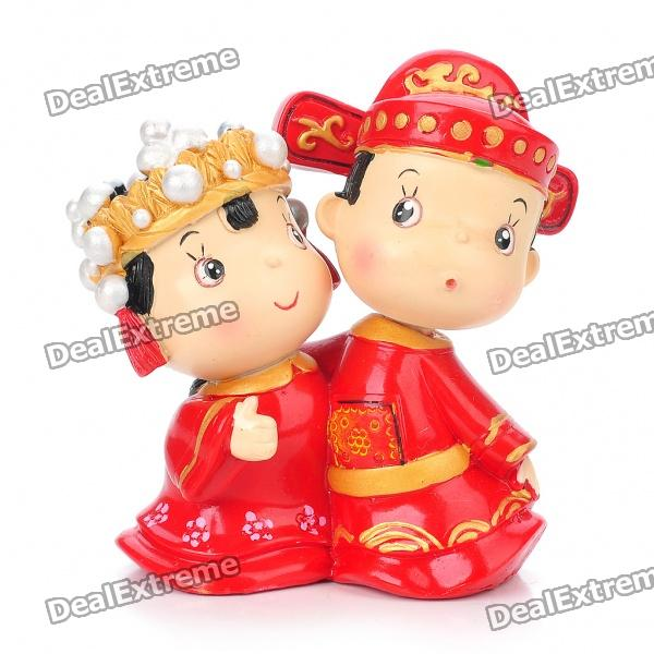 Cute Hugging Bride and Bridegroom Toy Doll