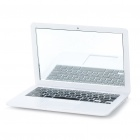 Apple MacBook Shaped Cosmetic Mirror - White