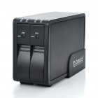"Dual-Bay USB 2.0 3.5"" SATA HDD RAID Enclosure - Black"