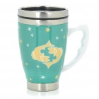 Ceramic Stainless Steel Vacuum Cup with Constellation Pattern - Pisces (350ml)