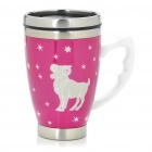 Ceramic Stainless Steel Vacuum Cup with Constellation Pattern - Aries (350ml)
