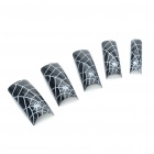 Stylish Pre Design False Plastic Nail Art Tips - Spiderweb (70-Piece)