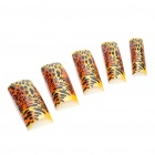 Stylish Pre Design False Plastic Nail Art Tips - Leopard (70-Piece)