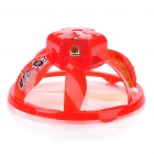 Creative PVC Mini Rechargeable IR Remote UFO - Red