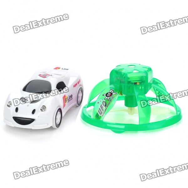 Creative PVC Mini Rechargeable IR Remote UFO - Green