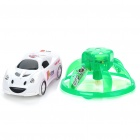 Creative PVC Mini Rechargeable IR Remote UFO with IR Remote Car - Green