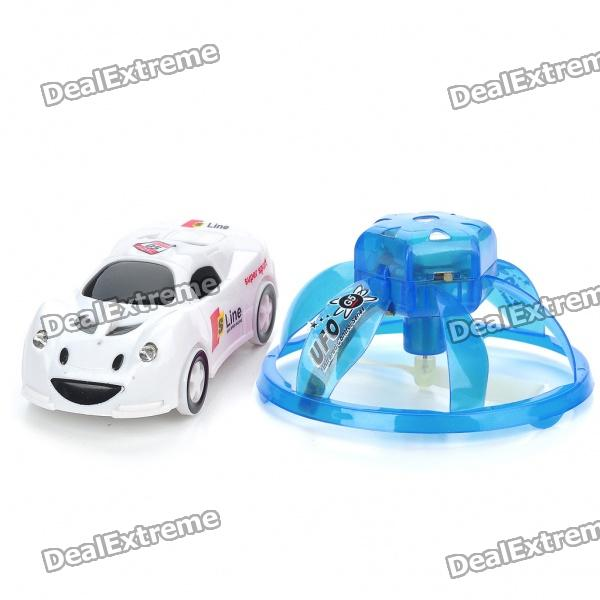 Creative PVC Mini Rechargeable IR Remote UFO - Blue