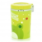Cute Cartoon Style Cup Shaped ABS Ashtray with Colorful Lights for Car - Green (3xL1131)