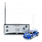 Bullet Style Storage Mini Rechargeable R/C Model Racing Car - Blue (40MHz)