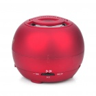 Mini Fashion Portable USB Rechargeable MP3 Player Speaker with FM/SD Slot - Red