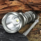 UltraFire 18WG-T60 XM-L T6 3-Mode 910-Lumen White LED Memory Flashlight - Silver (1 x 18650)