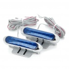 7-LED Brake / Turn Lights for Vehicles - Silver + Blue (DC 12V/Pair)