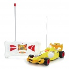 Cool 4-CH R/C Model ABS Racing Car - Yellow + White (27MHz)