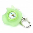 Cute Apple-Shape Water-proof Stil Quarzuhr - Green + White (1 x 377)