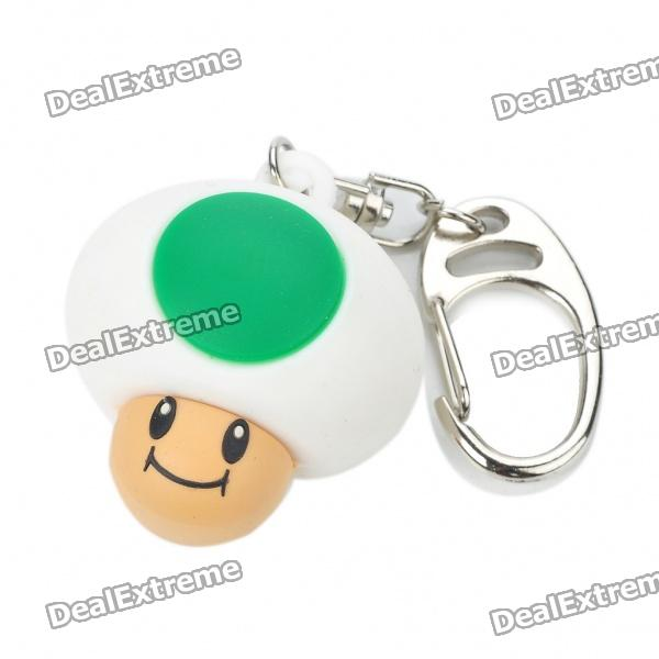 Cute Mario Mushroom Style Watch Keychaing - Green + White + Brown (1 x 377)