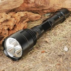 FandyFire STL-V2 CREE XM-LT6 5-Mode 3000-Lumen White 3-LED Flashlight - Black (2 x 18650)