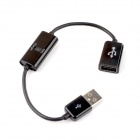 USB Data/Charging Extension Cable for Samsung P1000 - Black