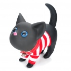 Cute Cat Style Desk Display Toy Coin Bank - Black