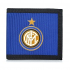 Stylish 3-Fold Inter Milan FC Logo Nylon Wallet - Blue