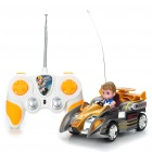 Cool 4-Channel R/C Racing Car with Remote Controller - Gold + Gray (45MHz)